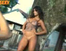 Safada mulher samambaia nua em ensaio da sexy