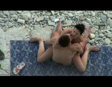 Mulher quente em flagras de sexo na praia