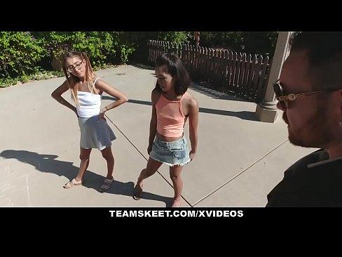 Safada meninas putas em sexo com um cara de sorte